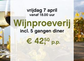 Wijn proeverij op 7 april bij Restaurant I Fratelli Haarlem